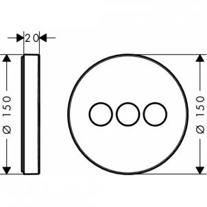 Potinkinis dušo maišytuvas ShowerSelect S 3 funkcijos