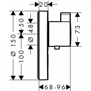 Potinkinis termost dušo maišytuvas ShowerSelect S 1 funkcija