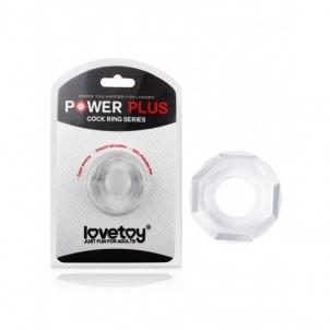 Power Plus penio žiedas Keturkampis (skaidrus) Bdsm dzimumlocekļa gredzeni