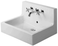 Washbasin 60 cm Vero white with,back panel and 3