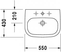 Praustuvas Duravit D-Code 55 cm, baltas