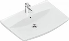 Praustuvas Inspira Art 60 x 49,5 cm, tvirtinamas varžtais, baltas Praustuvai