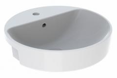 Praustuvas pusiau įleidžiamas VariForm 50 cm, apvalus, baltas