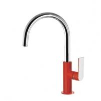 Praustuvo maišytuvas LOFT Colors paaukštintas H-200, riestu snapu , raudona/chromas