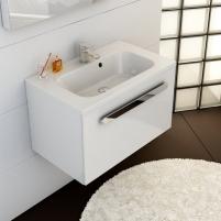 Praustuvo spintelė Ravak SD Chrome, 80 cm balta/balta Vonios spintelės