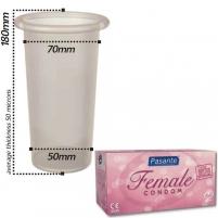 Prezervatyvai Pasante moterims (1 vnt) Prezervatyvai