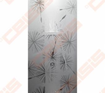 Priekinė stiklo dalis dušo bokso IDO Showerama 8-5 100x100, Dandeleon II ir matinio aliumio profiliu