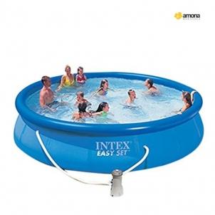 Pripučiamas Baseinas INTEX Easy Set su vandens valymo pompa, 457 x 84 cm