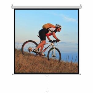 Projektoriaus ekranas ART manual display semi-automat 1:1 84 213x213cm MS-84 1:1