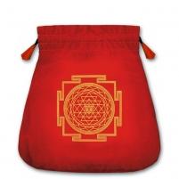 Protection velvetinis raudonas maišelis kortoms