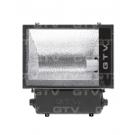 Prožektorius E40, 400W, MHE, IP65, paviršinis, juodas, asimetrinis, GTV OH-OMC400A-10