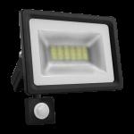 Prožektorius LED, 10W, IP65, paviršinis, juodas, 5500K, su 180° judesio jutikliu, Lumenix 10W CW+PIR 1062 Specialios paskirties šviestuvai