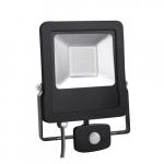 Prožektorius LED, 10W, IP65, paviršinis, su 180° judesio jutikliu, juodas, 3000K, Superled 10W bc+cz
