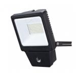 Prožektorius LED, 30W, IP65, paviršinis, juodas, 3000K, su 120° judesio jutikliu, PMX PLDF30S Specialios paskirties šviestuvai