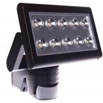 Prožektorius LED, 30W, IP65, paviršinis, su 180° judesio jutikliu, juodas, 3000K, Superled 30W B/C+CZ