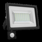 Prožektorius LED, 30W, IP65, paviršinis, su 180° judesio jutikliu, juodas, 6000K, Superled 30W BZ+CZ