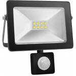 Prožektorius LED, 50W, IP65, paviršinis, juodas, 6000K, su 120° judesio jutikliu, Pawbol D.3750R Specialios paskirties šviestuvai