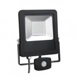 Prožektorius LED, 50W, IP65, paviršinis, su 180° judesio jutikliu, juodas, 6000K, Superled 50W + CZ BZ