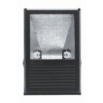 Prožektorius Rx7s, 70W, MHE, IP65, paviršinis, juodas, asimetrinis, GTV OH-OMC70A-10 Halogēnu lampas