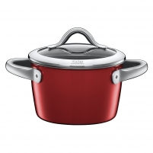 Puodas High casserole Vitaliano Rosso with lid 16cm 1.8 LITR