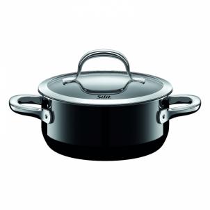 Puodas Low casserole Passion Black with lid 24cm 4.4 LITR