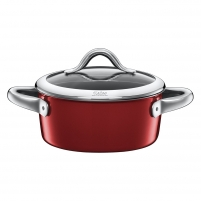 Puodas Low casserole Vitaliano Rosso with lid 18cm 1.8 LITR