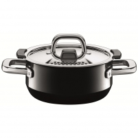 Puodas Low casserole w.lid 24cm Nature Black 4.4 LITR