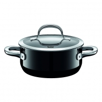 Puodas Low casserole with lid 16cm Passion Black 1.3 LITR