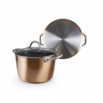 Puodas Natura Copper iš aliuminio su dangčiu The pot
