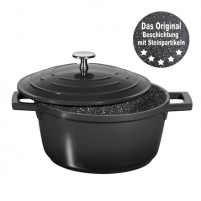 Puodas Stoneline Roasting Pot 2.6 L, 20 cm, Black, Lid included Puodai