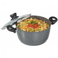 Puodas Stoneline XXL Cooking pot 7195 5 L, die-cast aluminium, Grey, Lid included Pot