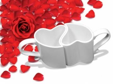 Puodeliai porai - Baltos širdelės Šventinės prekės