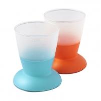 Puodelis Baby Cup,2pack,Orange/Turquoise Kūdikių maitinimui
