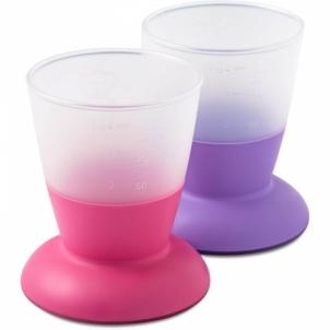 Puodelis Baby Cup,2pack,Pink/Purple Kūdikių maitinimui