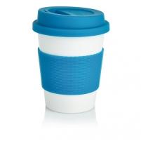 Puodelis kavai pagamintas iš perdirbtų medžiagų, mėlynas