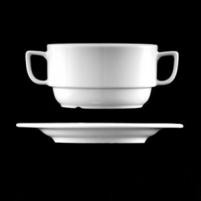 Puodelis sriubai iš porceliano