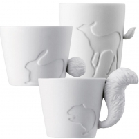 Puodelis su gyvūnėlio uodegėle Cups
