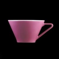 Puodelis su lėkštute 180ml ,Daisy,violetinis X8201 Puodeliai