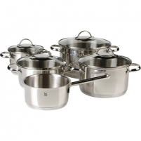 Puodų rinkinys WMF Cookware set 5-piece Provence Plus 2 x 16; 2 x 20; 24 cm, Cromargan stainless steel 18/10, Stainless steel, Dishwasher proof, Lid included Puodų rinkiniai