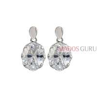 Decorated earrings A1033