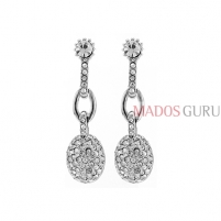 Decorated earrings A1090