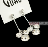 Decorated earrings A2065