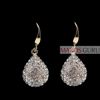 Decorated earrings A256