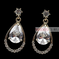 Decorated earrings A278