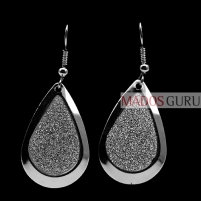 Decorated earrings A289