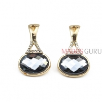 Decorated earrings A296