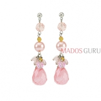 Decorated earrings A625