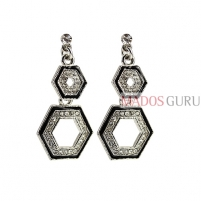 Decorated earrings A656
