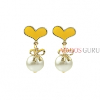 Decorated earrings A681