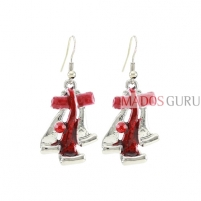 Decorated earrings A694